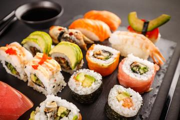 Poster Sushi bar Japanese favorite food sushi maki