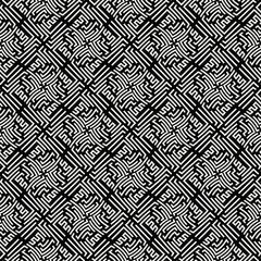 Autocollant pour porte Style Boho abstract geometric line graphic maze pattern background