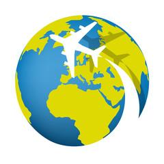 avion - voyage - monde - pictogramme -destination - tourisme