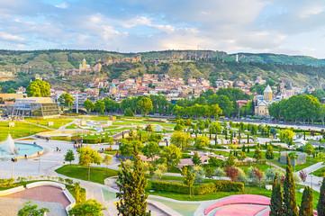 The cityscape of Tbilisi