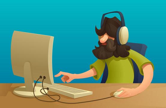 Programmeror  manager working