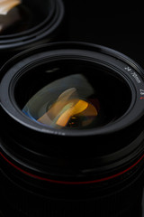 Photo of two camera lenses