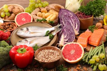 Tuinposter Eten selection of healthy food