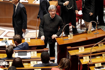 Melenchon of La France Insoumise arrives at opening session of French National Assembly in Paris