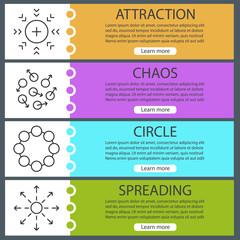 Abstract symbols web banner templates set