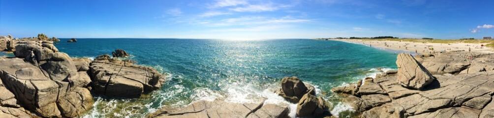 côte et plage à Lesconil bretagne