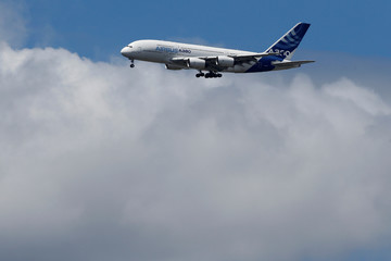 Airbus A380 at Paris Air Show at Le Bourget Airport near Paris