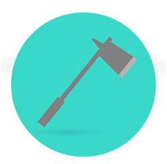 Ax icon. Vector illustration.