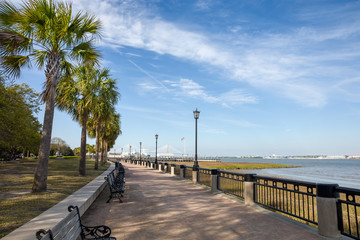 Canvas Print - Waterfront Park in Charleston, SC