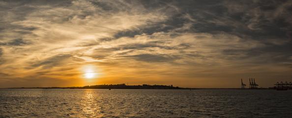 Sunset over  Shotley, England