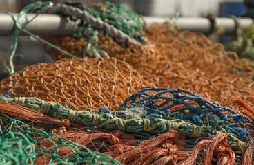 Fishing Nets on Harwich Pier, England