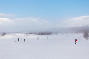 ski hikers