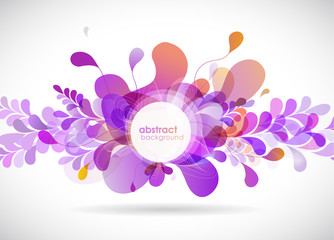 Abstract colored flower background.
