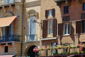 Fenster am Piazza del Campo Siena