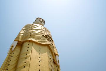 Big standing buddha with copyspace, Bodhi Tataung Temple, Monywa, Myanmar