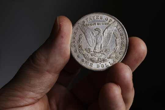 the old silver American dollar of 1878