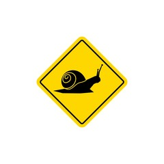 snail road sign icon vector logo element
