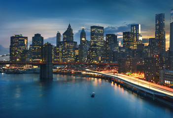 Fototapete - New York  City lights