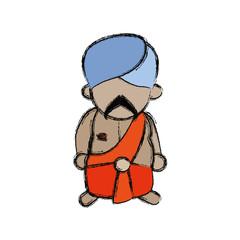 Indian ethic man cartoon