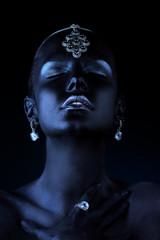 black shimmering skin