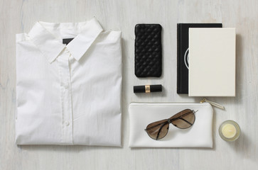 Accessories of a corporate woman