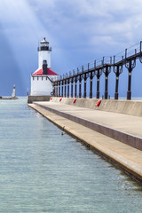 Foto op Canvas Vuurtoren House of Light - Michigan City, Indiana Lighthouse