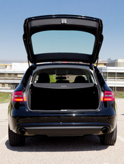 car with an open trunk