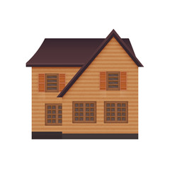illustration of detailed suburban family house. Isolated on white background photo-realistic vector illustration