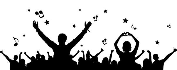 Silhouette Fans Konzert
