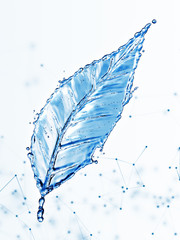 Leaf made of water splash