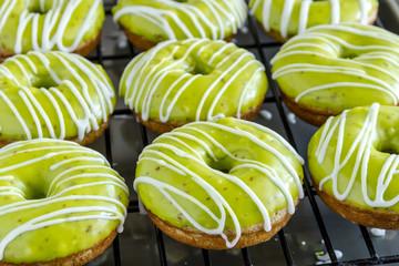 Homemade Baked Caramel Apple Donuts