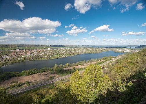 View of Winona, Minnesota