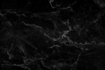 Black marble natural pattern for background, abstract natural marble black and white for design art work.