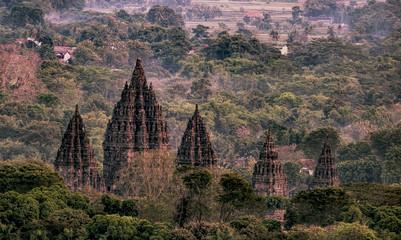 Prambanan temple vintage