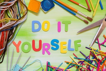 Do it yourself photos royalty free images graphics vectors colorful letters and handcraft supplies do it yourself solutioingenieria Choice Image