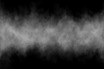 Fog or Smoke on black Background