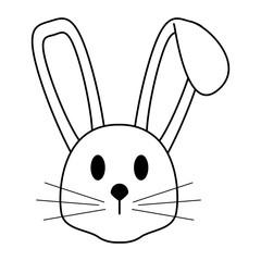 cartoon rabbit or bunny icon image