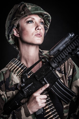 Female Military Soldier