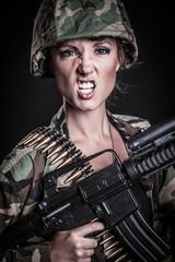 Machine Gun Woman