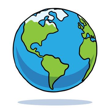 Cartoon Earth Art