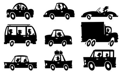 Cartoon Silhouette traffic