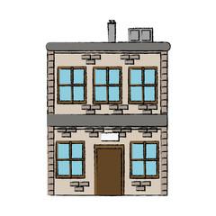 house two story windows chimney image
