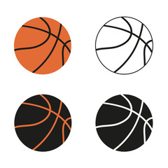 Basketball balls on white background