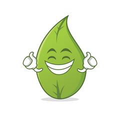 Proud leaf character cartoon art