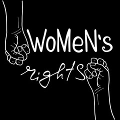 Women`s rights .  Feminism quote. Feminist saying. Brush lettering. Vector design.