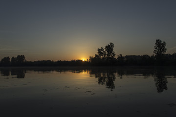 River Tisza at sunrise