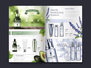 Obraz cosmetic brochure design - fototapety do salonu