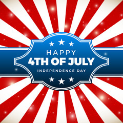 Independence day design. Holiday in United States of America