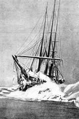 Nansen's ship Fram in the Arctic ice, January 1895