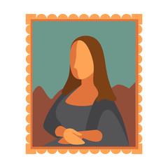 Minimal Mona Lisa picture